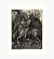Albrecht Dürer Ritter, Tod und Teufel Kunstdruck