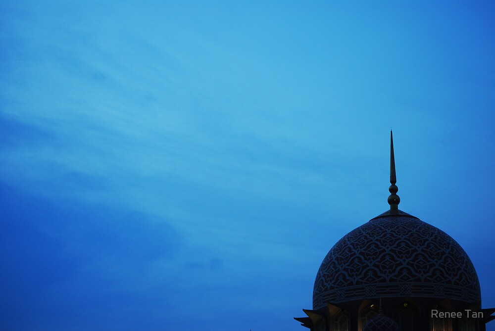 The mosque draped by the skies  by Renee Tan
