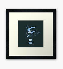 Xenacanthus, prehistoric Shark, River shark. Framed Print
