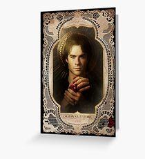 Season 4 of The Vampire Diaries Photoshoot: Damon Salvatore Greeting Card