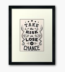 Life quote Typography 2 Framed Print