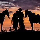 Cowboy, Cowgirl Sunset  by CarolM