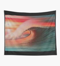 SunSet Wave,  Stunning Barreling Wave Wall Tapestry