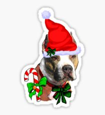 American Pit Bull Terrier Christmas Gifts Sticker