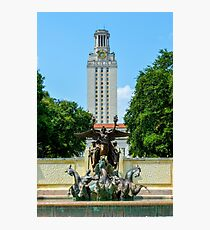 UT Tower and Littlefield Fountain Photographic Print