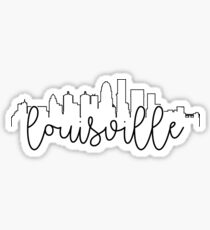 cityscape outline - louisville Sticker