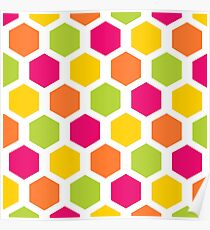 Hexagons Poster