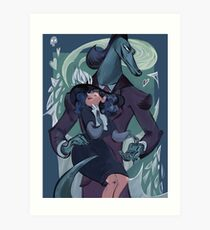 Star vs the forces of evil Eclipsa&Toffee Art Print