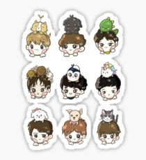 EXO OT9 and Pets Sticker