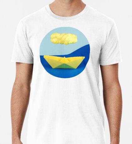 Die gelbe Wolke über dem gelben Schiff Premium T-Shirt