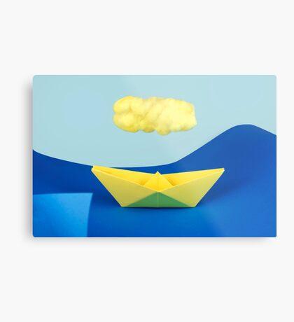 Die gelbe Wolke über dem gelben Schiff Metallbild