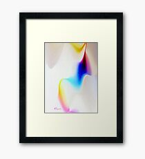 RIBBONS OF COLOR, SWIRLS OF WHITE Framed Print