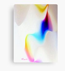 RIBBONS OF COLOR, SWIRLS OF WHITE Canvas Print