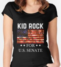 Kid Rock for U.S. Senate 2018 Women's Fitted Scoop T-Shirt