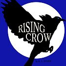 Rising Crow with title and white moon by Barrelproof