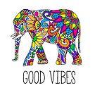 Bunter Stammes- Elefant gute Schwingungen von Corey Paige Designs