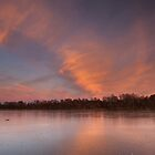 sunset glow, loch kinord by codaimages