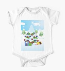 Christmas tree landscape Kids Clothes