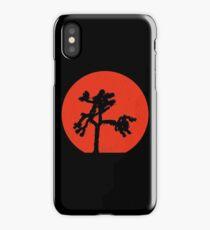 Joshua Tree Red Sky at Night iPhone Case/Skin