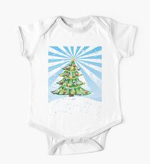 Christmas tree landscape 2 One Piece - Short Sleeve