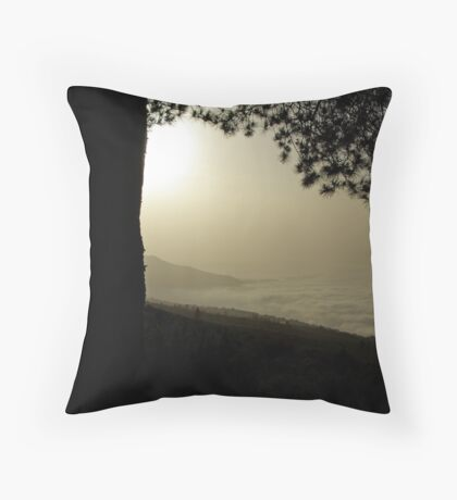 Above the clouds Throw Pillow