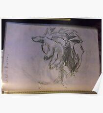 Copy: Hand/Poussain -(300717)- Pencil: Graphite stick Poster