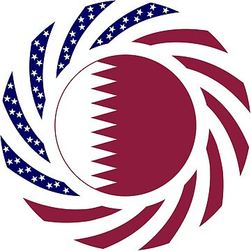 Qatari American Multinational Patriot Flag Series by carbonfibreme
