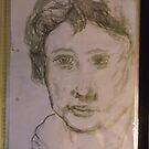 Copy: Female head/Rembrandt -(300717)- Pencil: Graphite stick by paulramnora