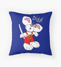 Diddl Red Standing Throw Pillow