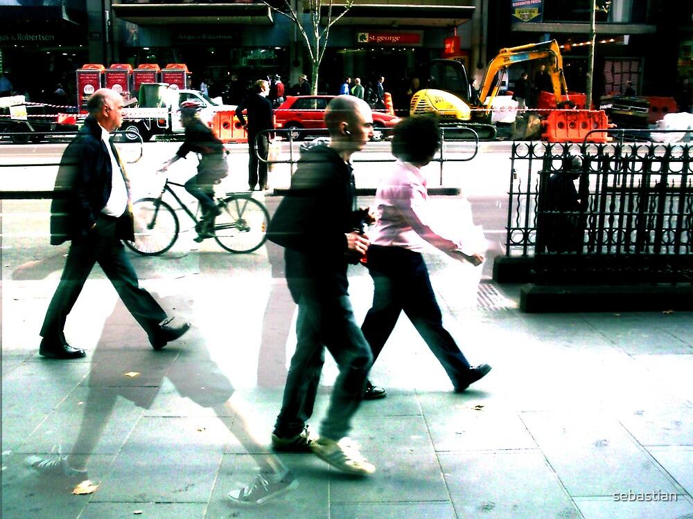 Untitled (walking in Melbourne1) by sebastian