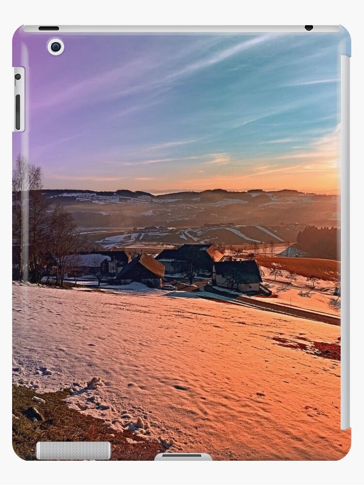 Colorful winter wonderland sundown   landscape photography by Patrick Jobst