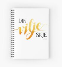Din vilje skje Spiral Notebook