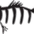 Fishbone Sticker - Black by BoardsNBones
