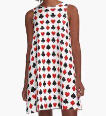 Spielkarten-Anzüge A-Linien Kleid