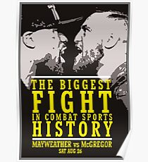 McGregor vs Mayweather Biggest Fight Poster