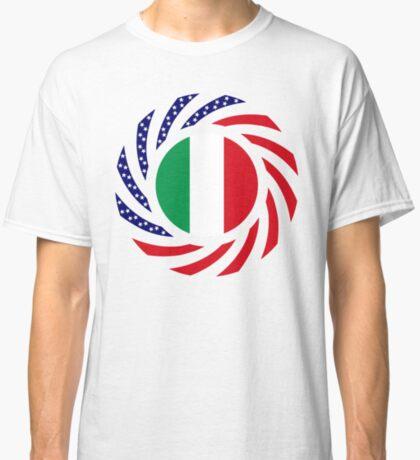 Italian American Multinational Patriot Flag Series Classic T-Shirt