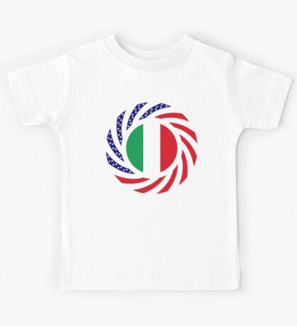 Italian American Multinational Patriot Flag Series Kids Clothes