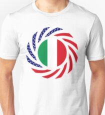 Italian American Multinational Patriot Flag Series Slim Fit T-Shirt