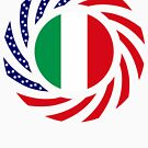 Italian American Multinational Patriot Flag Series by Carbon-Fibre Media