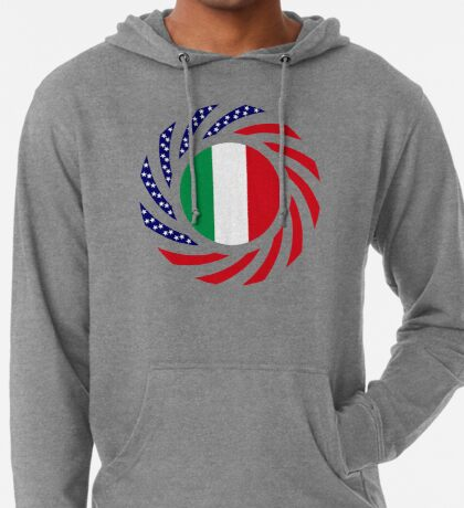 Italian American Multinational Patriot Flag Series Lightweight Hoodie