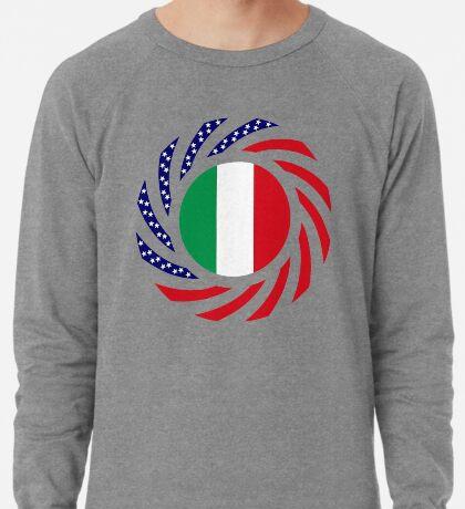 Italian American Multinational Patriot Flag Series Lightweight Sweatshirt