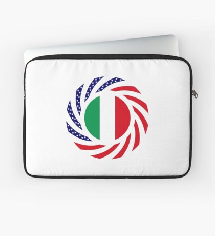 Italian American Multinational Patriot Flag Series Laptop Sleeve