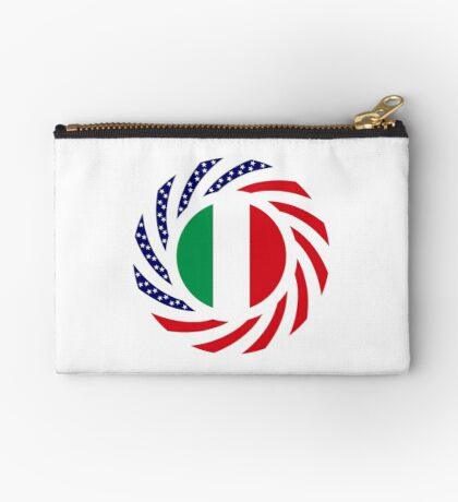 Italian American Multinational Patriot Flag Series Zipper Pouch