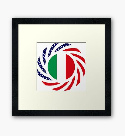 Italian American Multinational Patriot Flag Series Framed Print