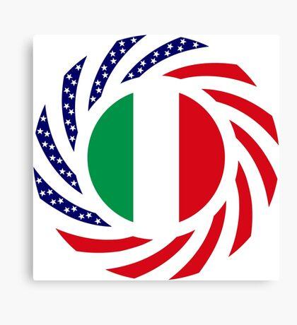 Italian American Multinational Patriot Flag Series Canvas Print