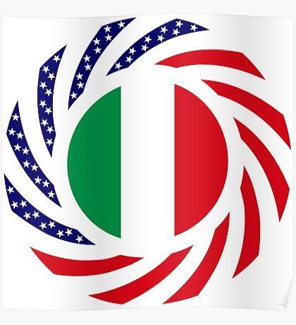 Italian American Multinational Patriot Flag Series Poster
