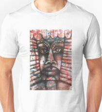 Face on colorful abstract background T-Shirt