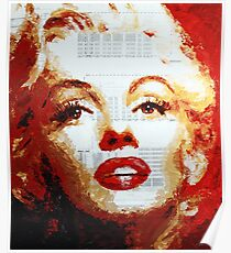 Marilyn - Blue Print Poster