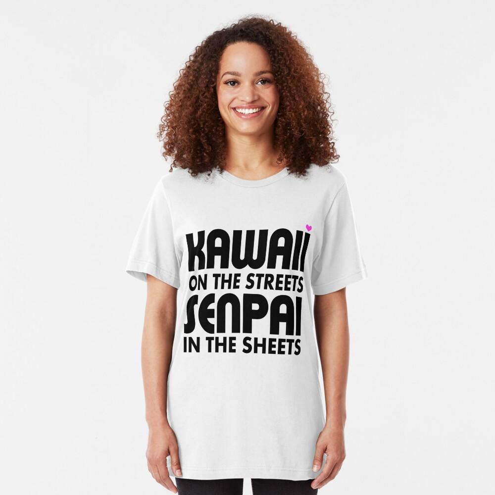 Kawaii auf den Straßen, Senpai in den Laken Slim Fit T-Shirt