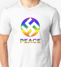 LOVE AND PEACE WITH SWASTIKA T-Shirt